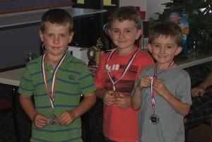 Under 10s receive their medals