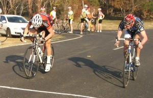 Chris Jones edges Andrew Kirk on the line in the sprint for third